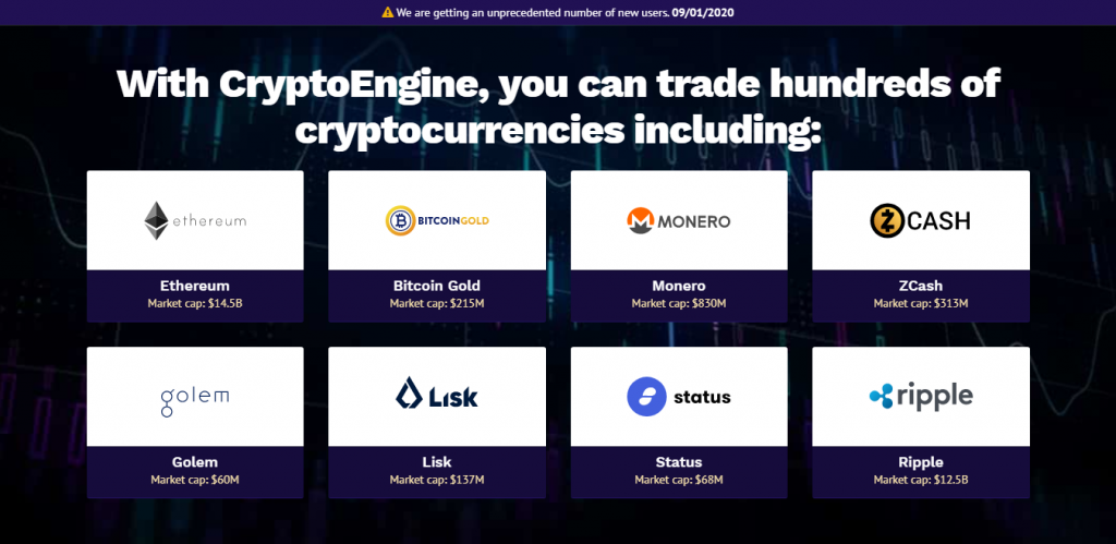 Crypto Engine Trading Robot Screenshot
