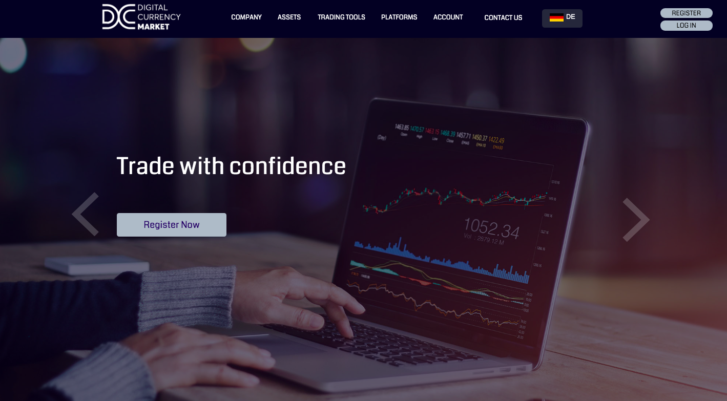 Digital Currency Market's main page