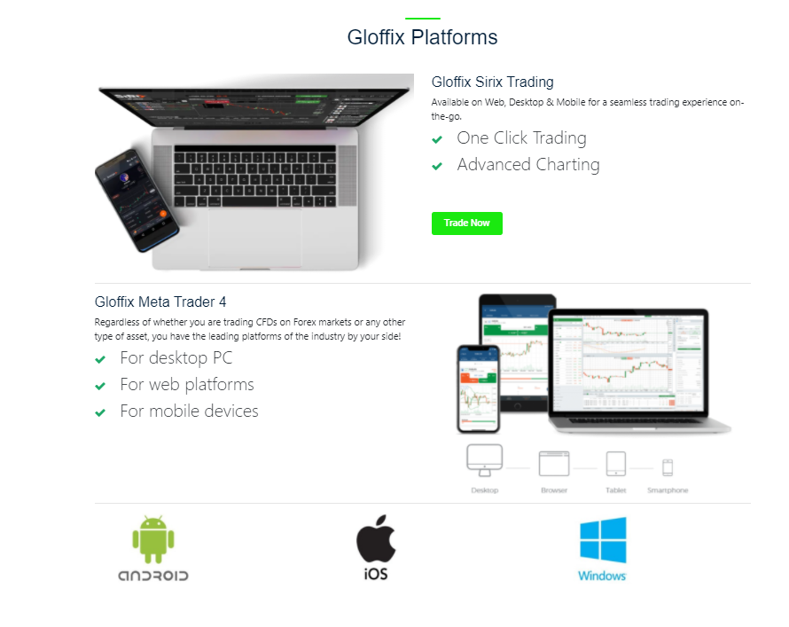 Gloffix platforms