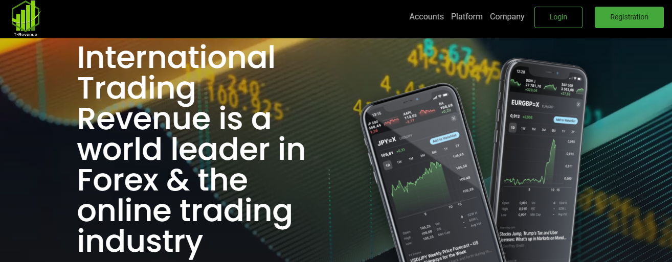 International Trading Revenue website