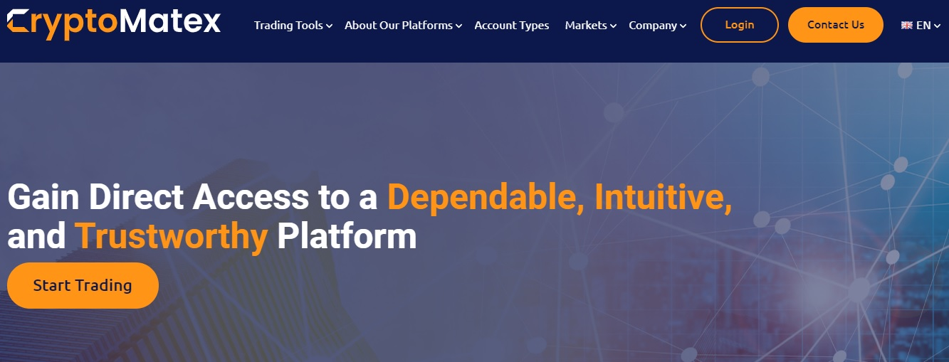 CryptoMatex website