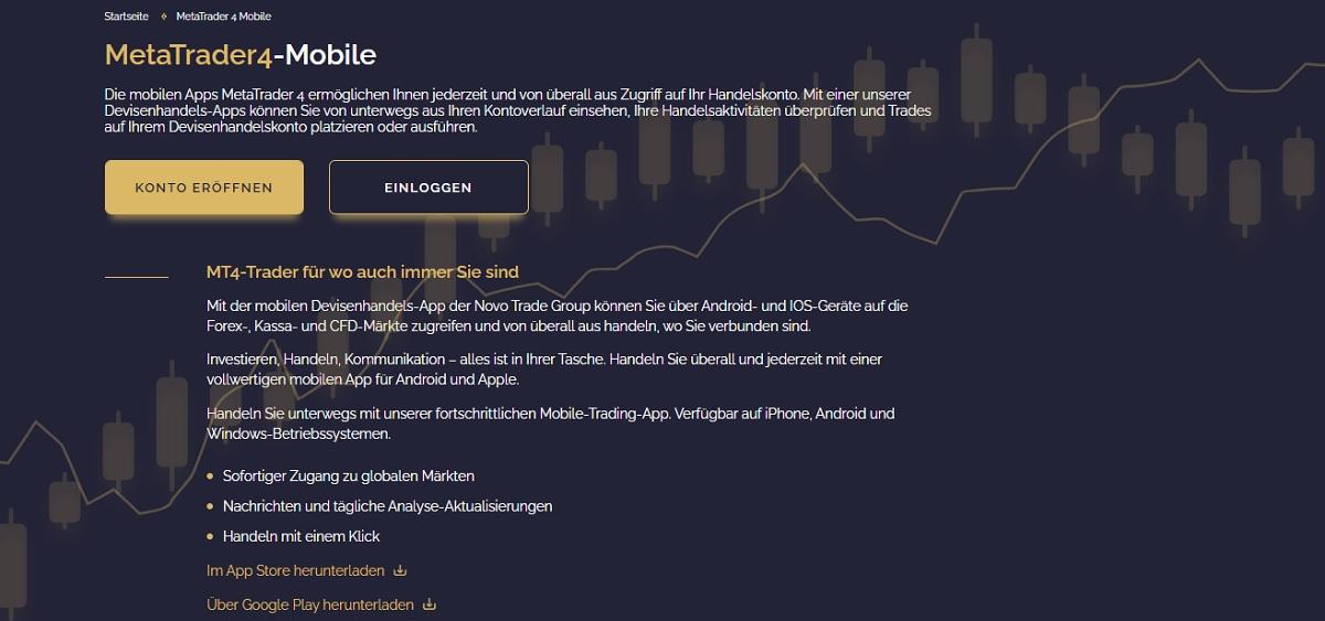 Novo Trade Group Top-Handelsplattform