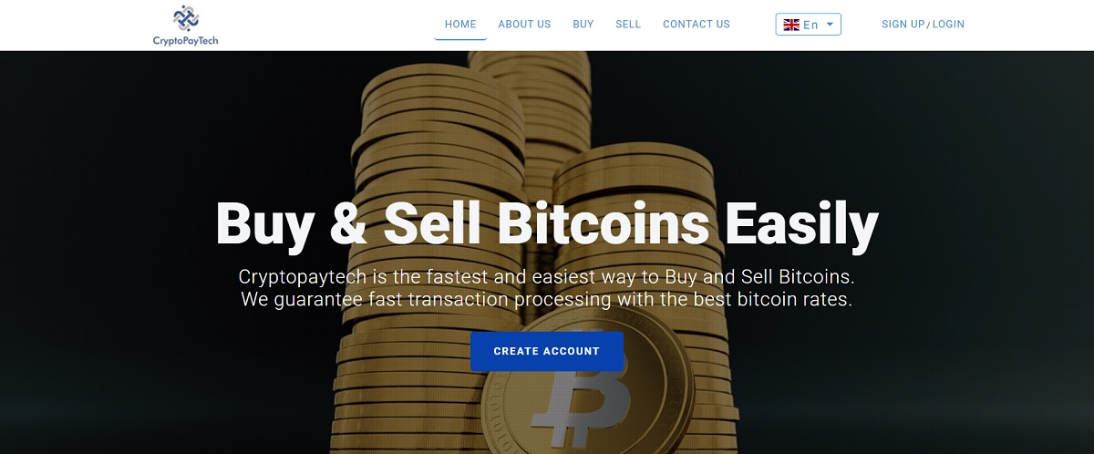 CryptoPayTech home page