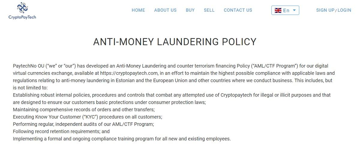 CryptoPayTech security