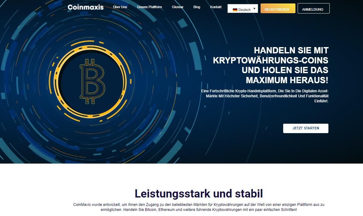 Die offizielle Homepage vom Online-Broker.